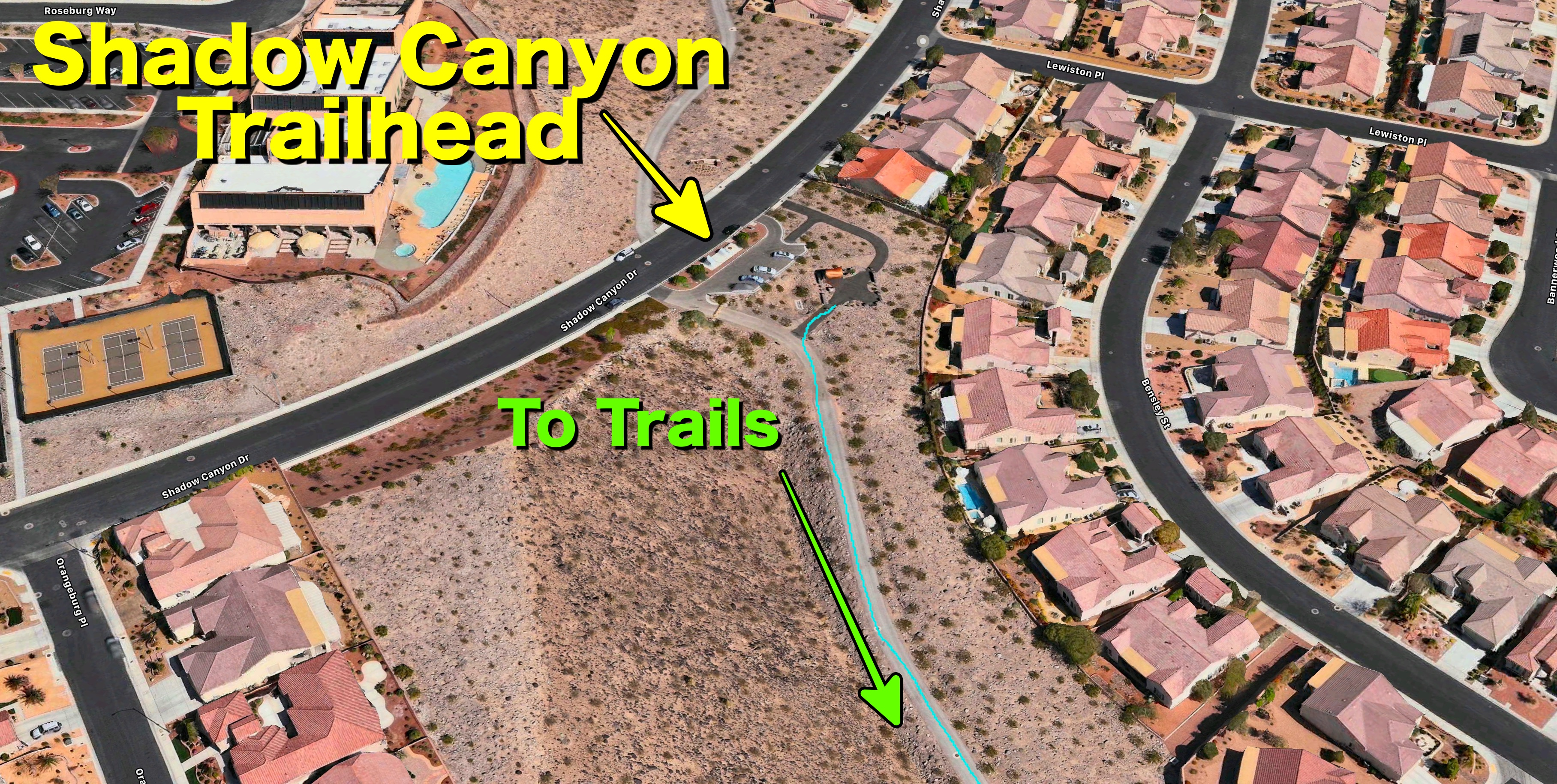 Shadow Canyon Trailhead Overview