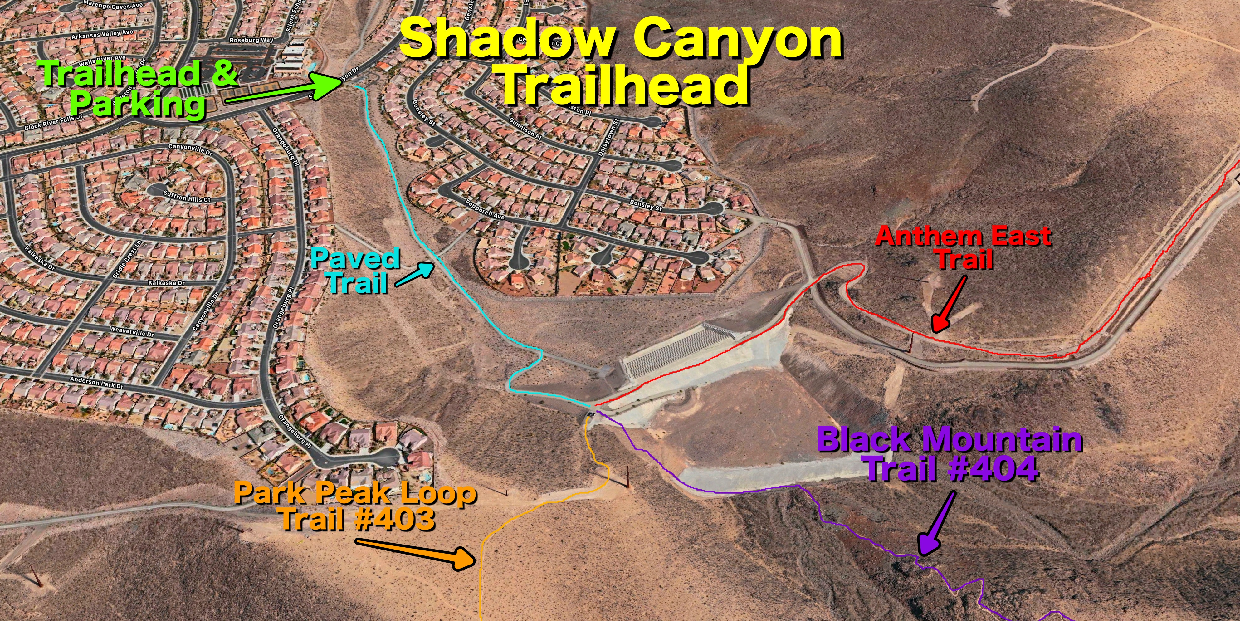 Shadow Canyon Trails Overview