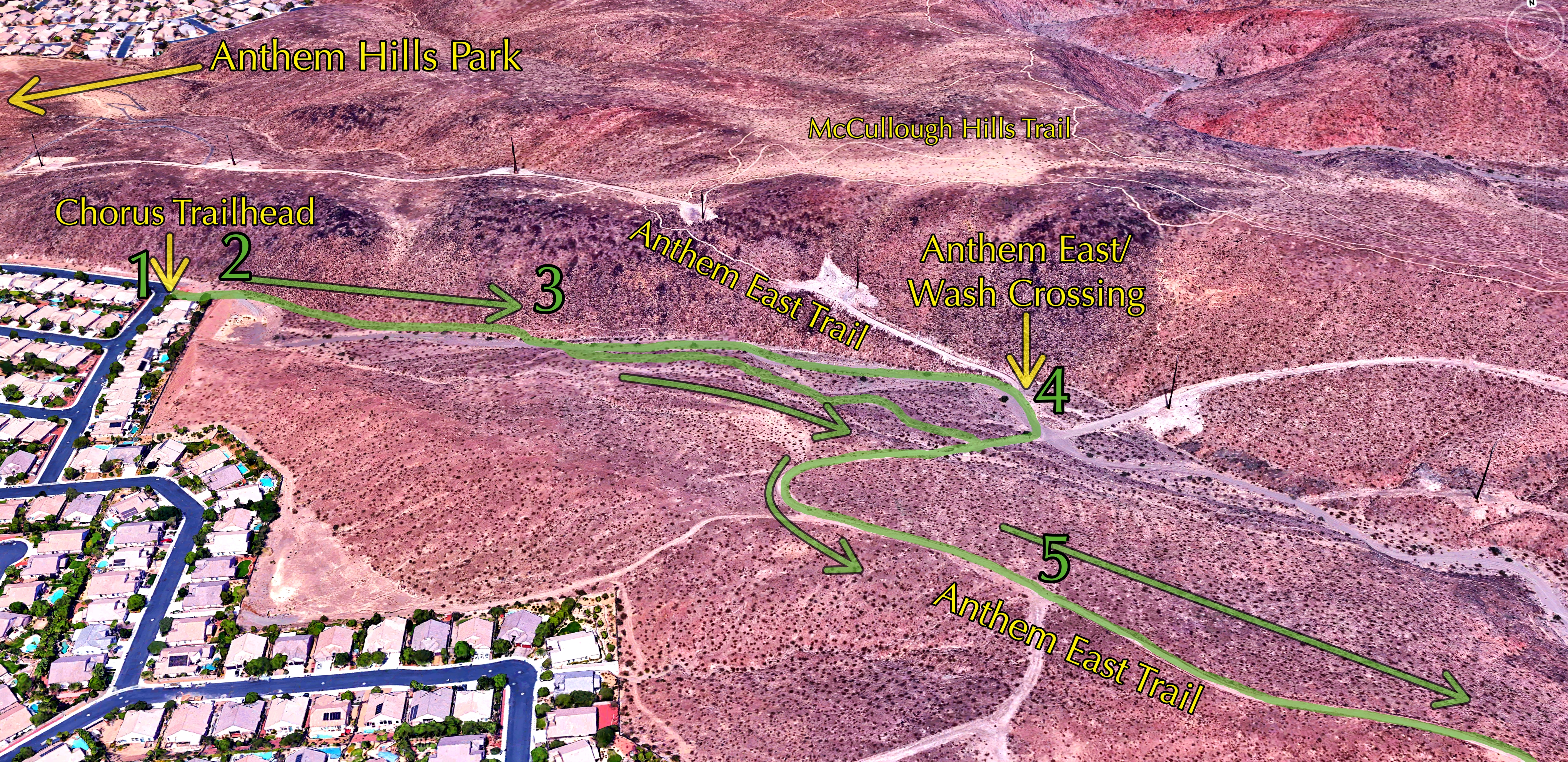 Aerial Overview AnthemEast Wash Crossing